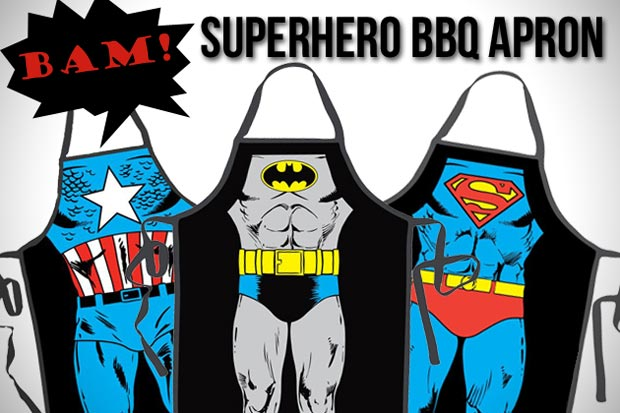 What To Wear For A Super BBQ Party? A Superhero Apron, Duh!