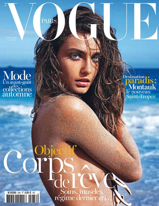beach ready Andreea Diaconu June July 2013 Vogue Paris