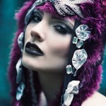 beads feathers headpiece posh fairytale couture