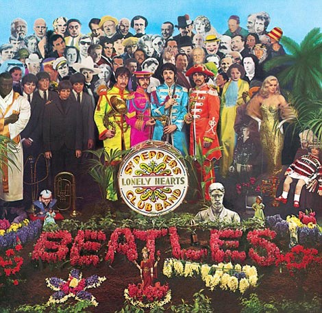 Audrey Hepburn Stamp Vs. Beatles Sgt Pepper Poster (Auction Faceoff)