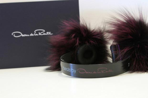 beats by dr dre oscar de la renta fur headphones 2