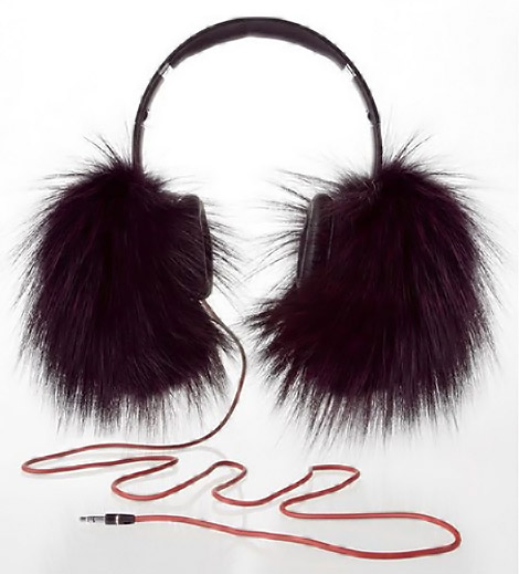 Beats By Dre Fur Headphones With Oscar De La Renta