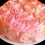 Beautiful pink rose cake I am baker
