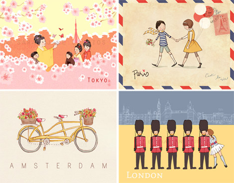 Beautiful posters Children Around the world Sarah Jane Studios