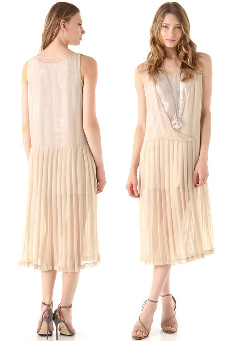 beautiful retro pleated dress