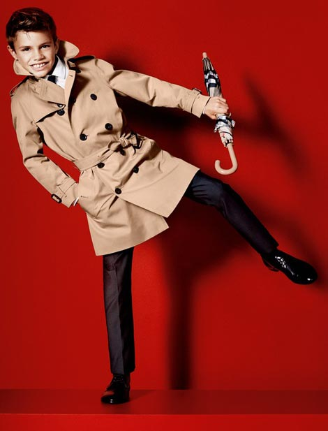 Beckham s boy in Burberry Ad Campaign
