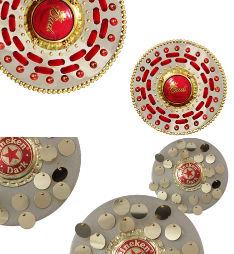 Beer cap brooch Jung Ee Eun