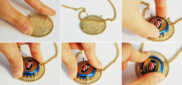 Beer cap necklace Jung Ee Eun