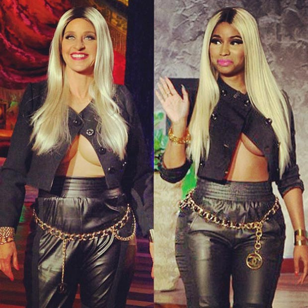 Best Halloween costume Ellen as Nicki Minaj