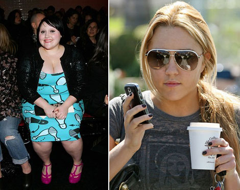 Beth Ditto Amanda Bynes black nails