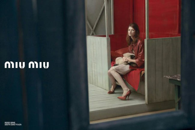 Bette Franke Miu Miu red