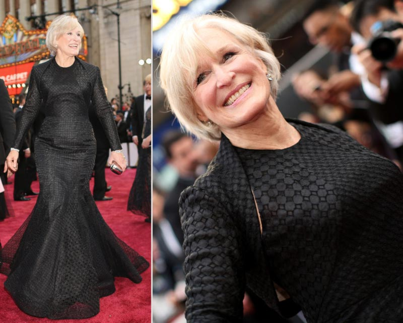Bette Midler 2014 Oscars Red Carpet black dress