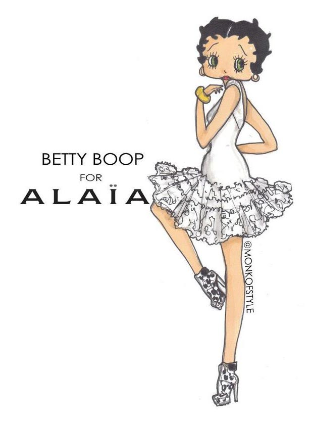 Betty Boop dress update Alaia