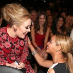 Beyonce and Adele talking 2013 Grammy Awards