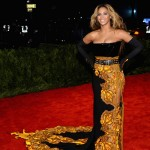 Beyonce black and yellow Givenchy dress 2013 Met Gala