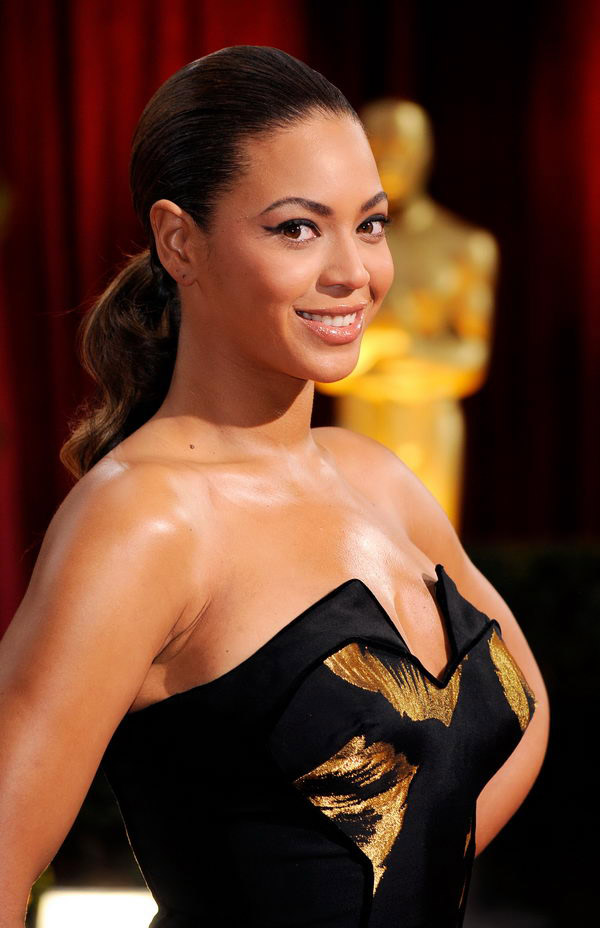beyonce black dress oscars 2009 4