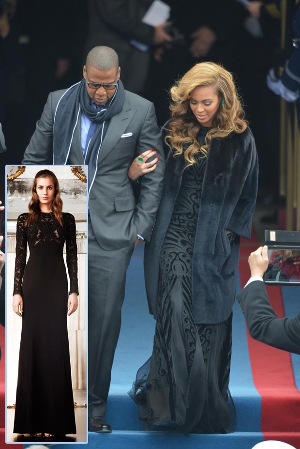 Beyonce black Pucci dress Inauguration Day
