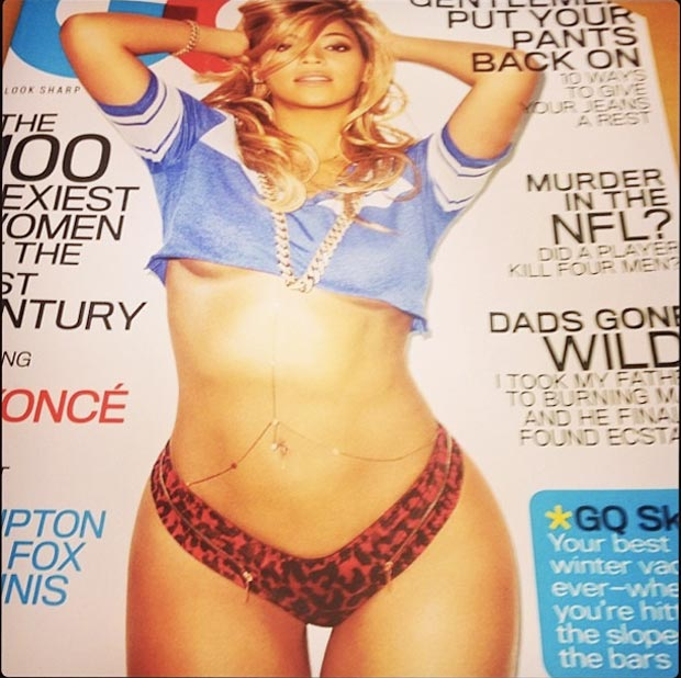 Beyonce covers GQ sexiest woman of the century