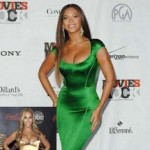 Beyonce Green Dress and Golden Dress