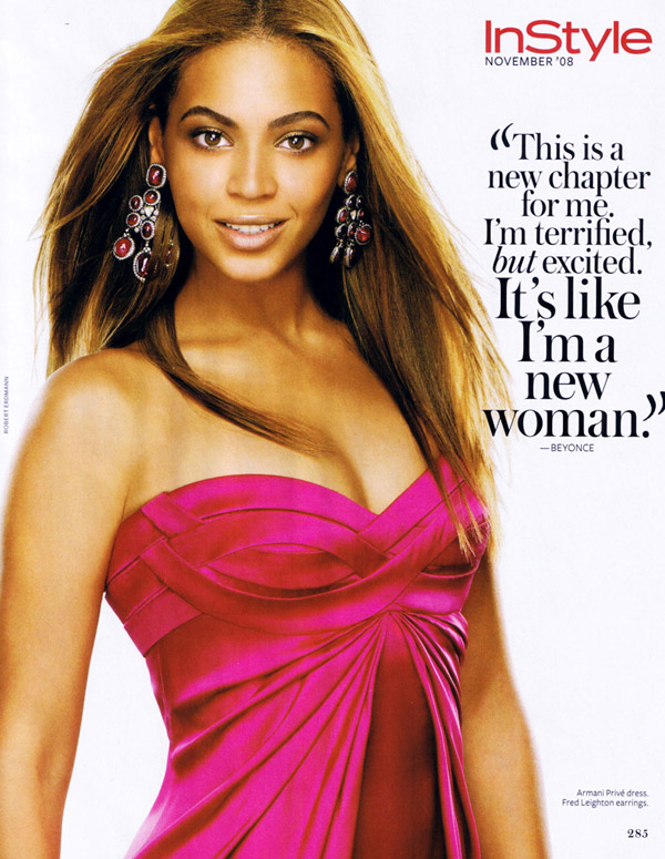 Beyonce Knowles Instyle magazine November 2008 1