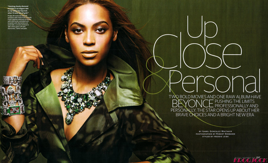 Beyonce Knowles Does InStyle Magazine In November 2008