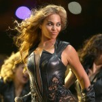 Beyonce leather lace bodysuit Super Bowl