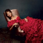 Beyonce red dress Vogue pictorial