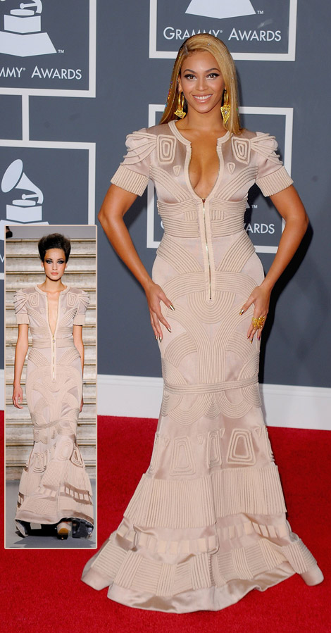 Beyonce Stephane Rolland dress 2010 Grammy Awards