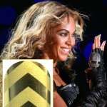 Beyonce Super Bowl gold chevron nails Minx