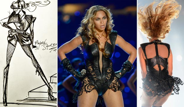 Beyonce Super Bowl stage outfit Rubin Singer