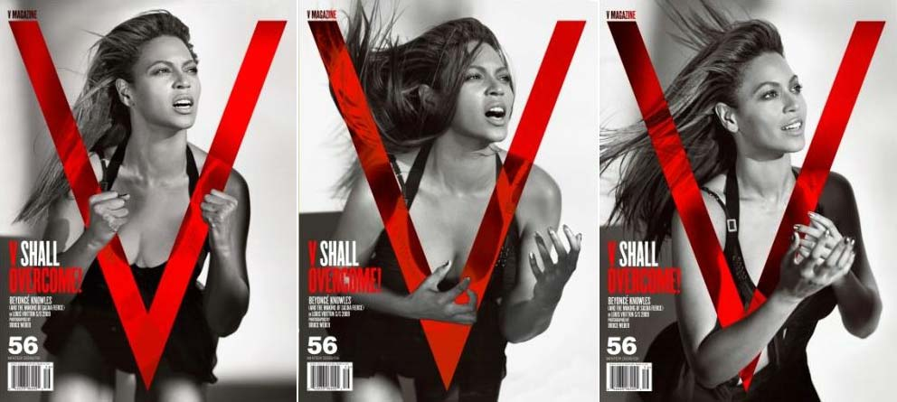 Beyonce V Magazine Nov Dec 2008 covers