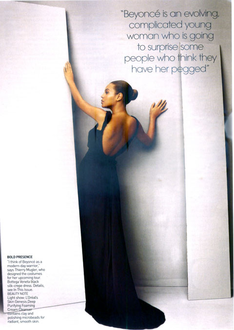 Beyonce Vogue April 09 Thierry Mugler