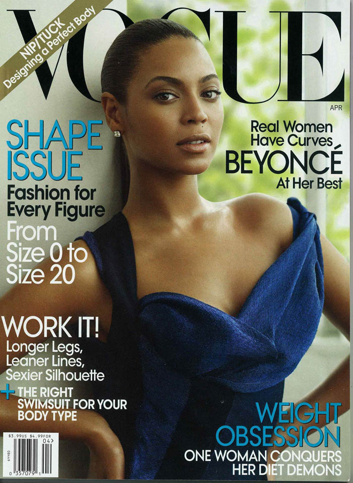 Beyoncé's Shape Issue Vogue April 2009
