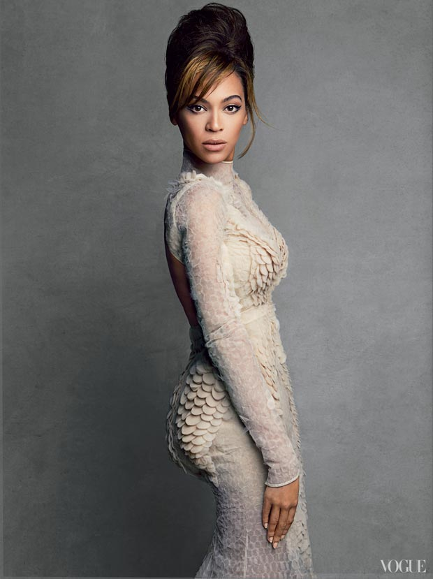 Beyonce Vogue scales dress