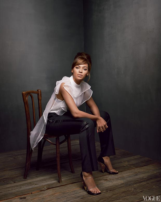Beyonce Vogue seated photo