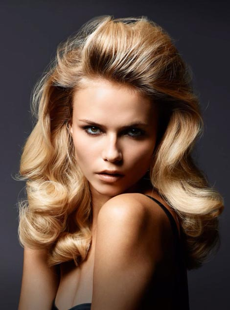big pin up hair Natasha Poly Madame Figaro