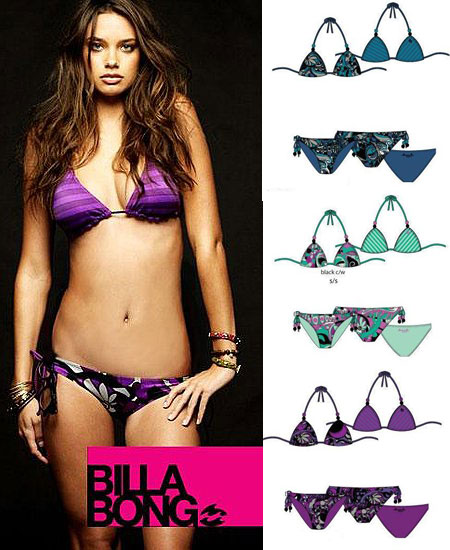 Billabong Reversible Bikini by Lisa Klein