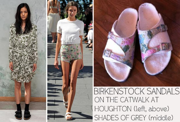 Birkenstock on the catwalk Houghton Shades of Grey