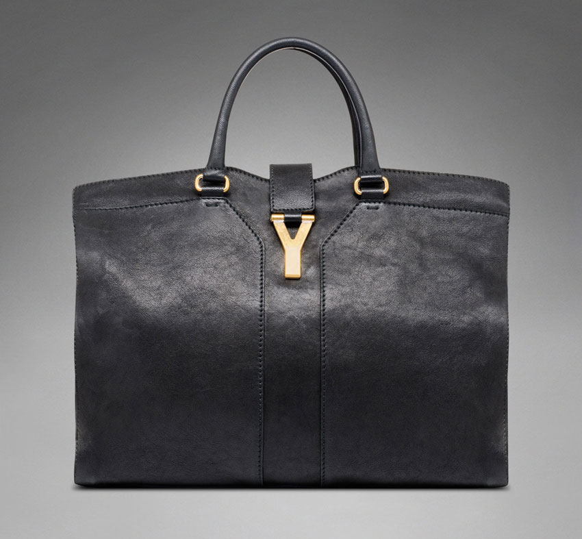 black Yves Saint Laurent bag