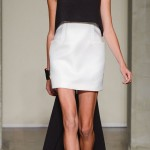 black and white dress with a train Ferre Spring 2013