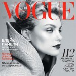 black and white Jessica Stam Vogue Ukraine November 2013