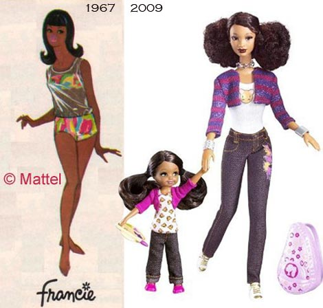 Black Barbie Francie SIS
