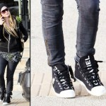 Black Chanel High top sneakers Avril Lavigne