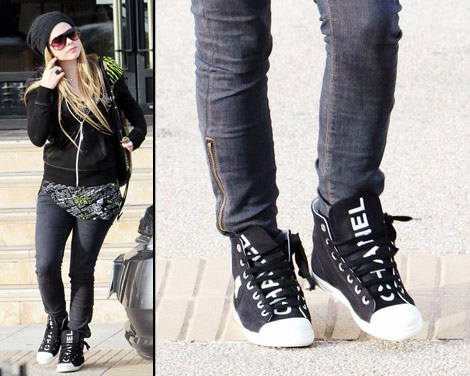 Black Chanel High top sneakers