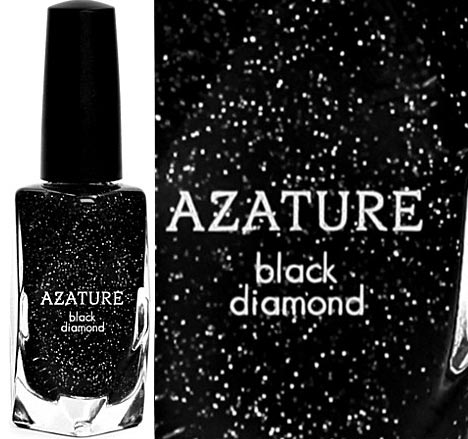 Shine Like Diamonds Nails With Azature Black Diamond Polish