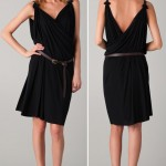 black draped dress DSquared2