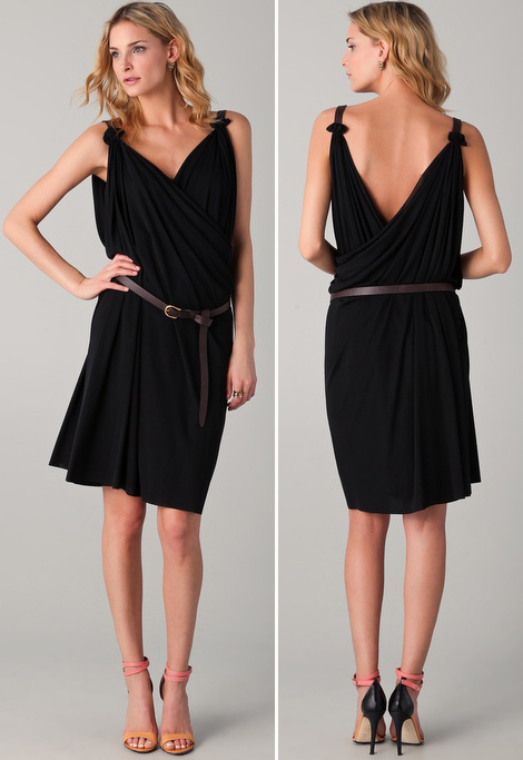 Favorite Summer Dresses: Draped Black Dress From DSquared2
