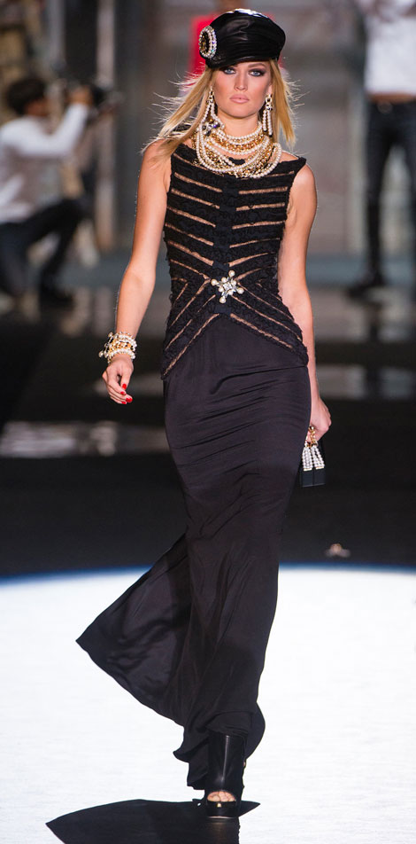black dress DSquared2 Summer 2013