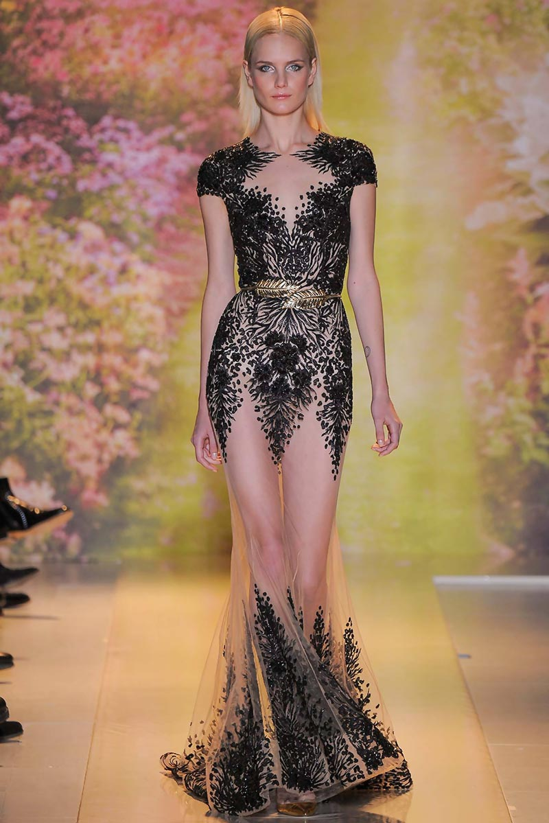 black embroidery dress Zuhair Murad Spring 2014 Couture