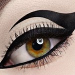black eyeliner temporary tattoo